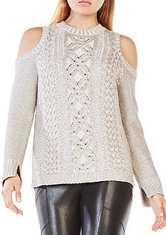 BCBGMAXAZRIA Arlene Cold-Shoulder Sweater