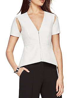 BCBGMAXAZRIA Haven Cold-Shoulder Top