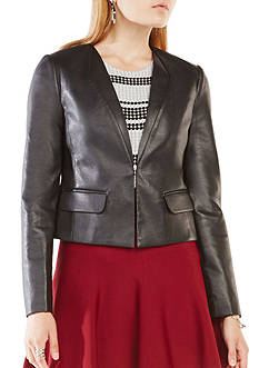 BCBGMAXAZRIA Faux Leather Blazer