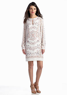 BCBGMAXAZRIA Freya Long Sleeve Lace Dress