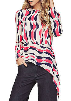 BCBGMAXAZRIA Eugenie Deco-Printed Top