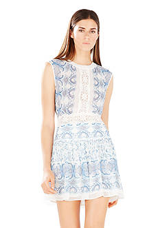 BCBGMAXAZRIA Aymeline Mixed Print Dress