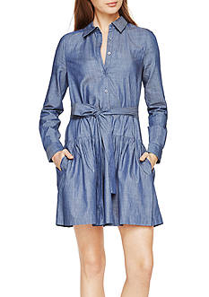 BCBGMAXAZRIA Mariela Chambray Twill Dress