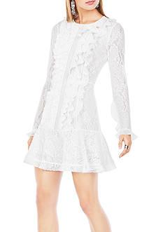 BCBGMAXAZRIA Guinevere Ruffled Lace Dress