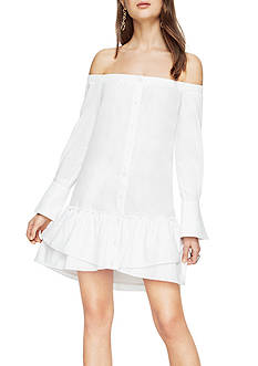 BCBGMAXAZRIA Aiyana Woven Off-The-Shoulder Dress