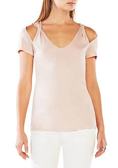 BCBGMAXAZRIA Off Shoulder Knit Top