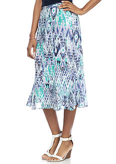 Alfred Dunner Classic Abstract Ikat Skirt