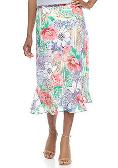 Alfred Dunner Classics Floral Print Skirt