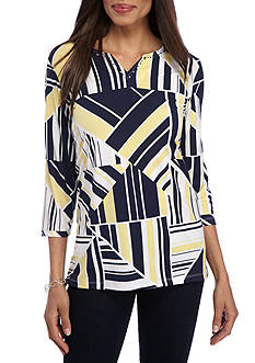 Alfred Dunner Classic Geo Print Tunic