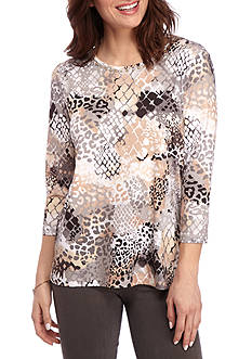 Alfred Dunner Classic Animal Print Tunic