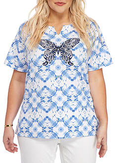 Alfred Dunner Plus-Size Classics Butterfly Tee