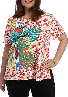 Alfred Dunner Plus Classic Parrot Tee