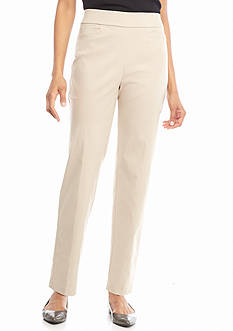 Alfred Dunner Petite Classic Allure Stretch Pull On Average Pants