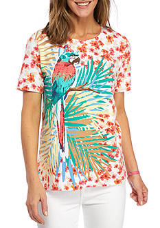 Alfred Dunner Petite Classics Parrot Tee