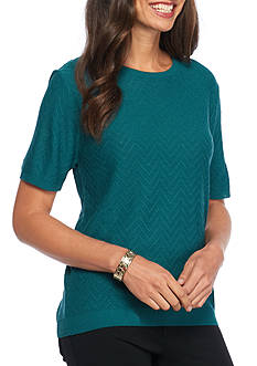 Alfred Dunner Classic Solid Shell Top