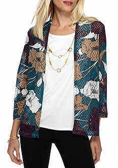 Alfred Dunner Classics Floral Print 2Fer