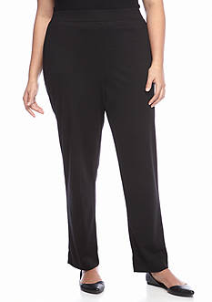 Alfred Dunner Plus Size Classics Slim Pant