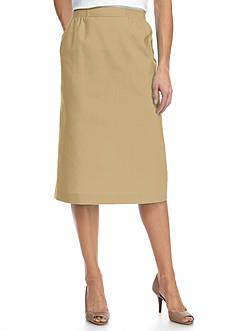 Alfred Dunner Classic Linen Skirt