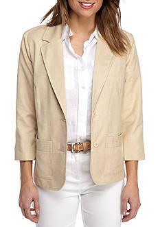 Alfred Dunner Classic Linen Jacket