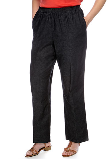 Alfred Dunner Plus Size Proportioned Denim Pant (Average & Short)