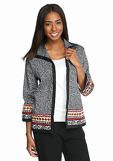 Alfred Dunner Port Antonio Printed Border Jacket