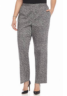 Alfred Dunner Plus Size Port Antonio Printed Pants