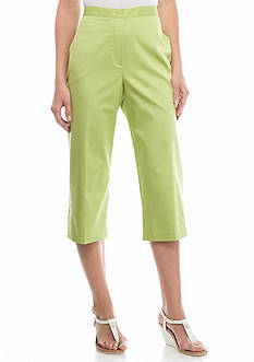 Alfred Dunner Sao Paolo Solid Capris