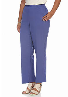 Alfred Dunner Plus Size Cyprus Solid Pants