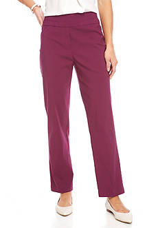 Alfred Dunner Veneto Valley Slim Stretch Pants
