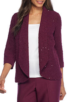 Alfred Dunner Valley Sequin Boucle Jacket