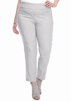 Alfred Dunner Plus Size Veneto Valley Warp Stretch Pants