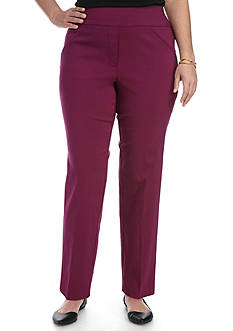 Alfred Dunner Plus Size Veneto Valley Warp Stretch Pant