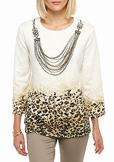 Alfred Dunner Madison Park Skin Texture Sweater