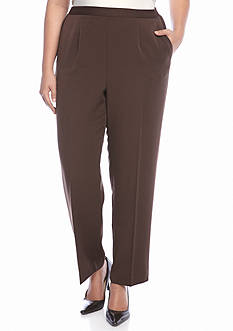 Alfred Dunner Plus Size Sante Fe Solid Pants