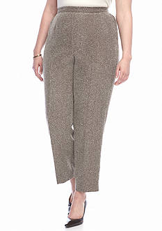 Alfred Dunner Plus Check Pants Avenue