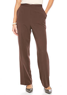 Alfred Dunner Petite Sante Fe Solid Pant