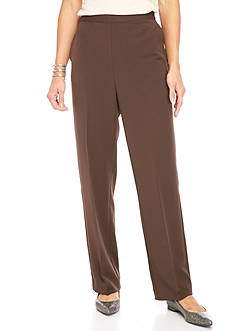 Alfred Dunner Petite Solid Pant
