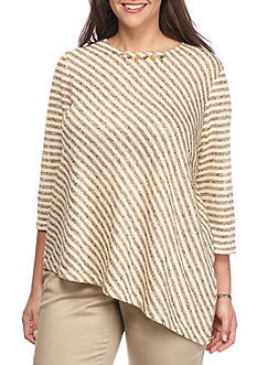 Alfred Dunner Plus Size Cactus Ranch Diagonal Stripe