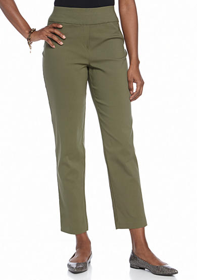 Alfred Dunner Petite Crescent City Slim Pants