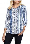 Alfred Dunner Sierra Madre Animal Print Top