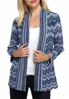 Alfred Dunner Sierra Madre Space Dye Cardigan