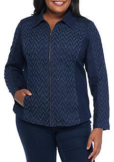 Alfred Dunner Plus Size Sierra Madre Denim Jacket