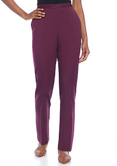 Alfred Dunner Petite Sierra Madre Short Twill Pant