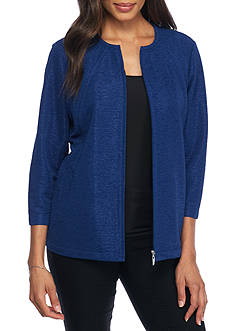 Alfred Dunner City Knit Textured Jacket