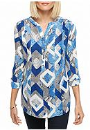 Alfred Dunner Crescent City Python Print Tunic