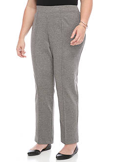 Alfred Dunner Plus Size Short Slim Pant