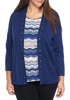 Alfred Dunner Plus Size Crescent City Layered Top