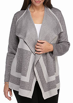 Alfred Dunner Plus Size Crescent City Cascading Cardigan