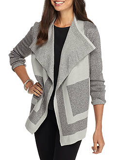 Alfred Dunner Petite Crescent City Cascade Cardigan
