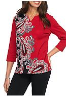 Alfred Dunner Wrap It Up Asymmetrical Paisley
